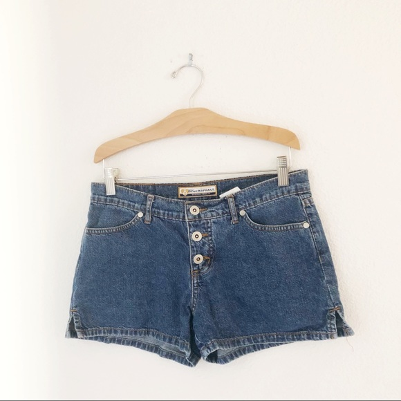 Vintage Pants - Vintage Y2K button fly denim shorts small low rise